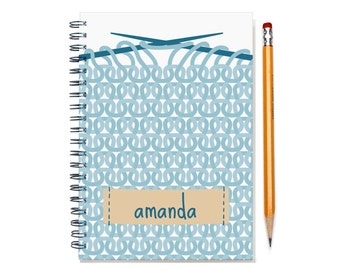 12 or 24 Month Personal Calendar Notebook, 2016 2017 2018 Monthly Planner Notebook, Gift for Knitter, Calendar Notebook, SKU: pn knitting