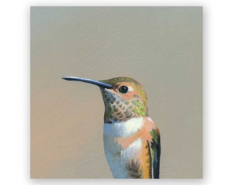 Hummingbird #5 4 x 4 Wings on Wood Decor