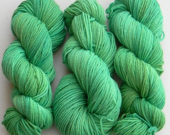 Spearmint - Salsa Monkey worsted weight kettle dyed 100% Merino