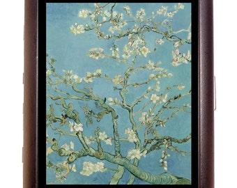 Vincent Van Gogh Almond Blossoms Cigarette Case Business Card Wallet MP3 Holder Fine Art Painting Impressionist Impressionism