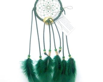 Forest Green Dream Catcher, Turkey Flat Feathers