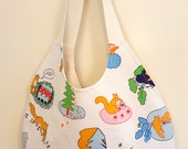Recycled Crazy Squirrel Tote Bag
