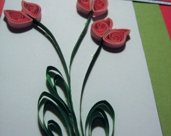 Quilled Tulip Thank You Card