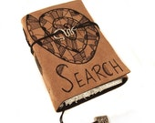 Search, Journal, Leather, Handmade, Suede,