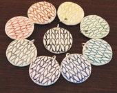 Large Round Knit Pendant