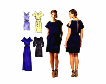 Cynthia Rowley Dress in Three Lengths with Sleeve Variations Simplicity 2406 Sewing Pattern Size 6- 8 - 10 - 12 - 14 UNCUT