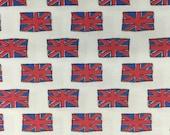 Doctor Who Union Jack Flag fabric, hard to find 1 yard, Riley Blake