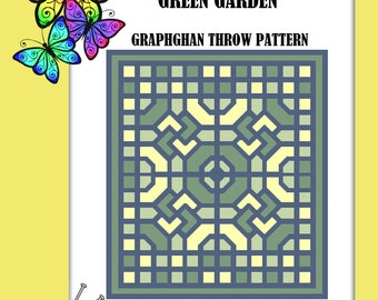 Green Garden - Graphghan Throw Pattern