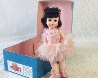 Madame Alexander Ballerina Doll In Box, 8 Inch No 403 with Brown Hair and Blue Sleepy Eyes