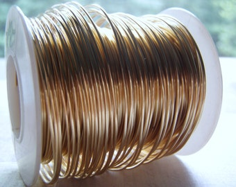 Brass Wire Half Hard Round Jeweler's Brass Rich Low Brass Gold Color 14 to 22 Gauge