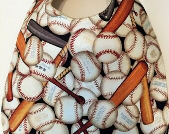 Baseball Balls and Bats Baby Bib
