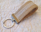 Burlap and Lace ... Mini Key Fob