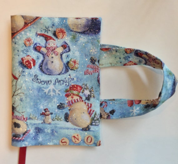 How To Make A Fabric Book Cover With Handles ~ Fabric book cover with handles snowman