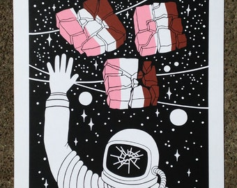 Astronaut Ice Cream - Limited Edition Screenprint