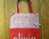 Custom listing for Olivia, name bag in red