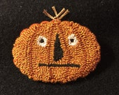 Primitive Pumpkin Needle Punch Pin Fall Pumpkin Head