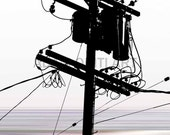 Telegraph power pole printable download poster colourful print download pop art wall hanging