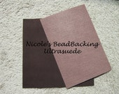 Ultrasuede with Nicoles BeadBacking Great Combo for Beading  Rich Brown