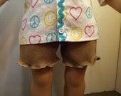 Ruffle Hemmed Caramel Shorts-for 18 dolls