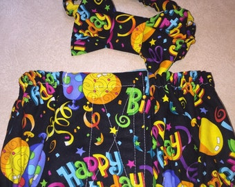 Dog Bowtie and Belly Band Set - ready made