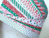 "Clearance* 5/8"" Weaving Star Paper~ Holiday/Christmas Prints (82 strips)"