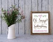 Romantic & Whimsical Hashtag Instagram Wedding Sign