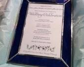 RESERVED for TABITHA PRYOR - pair of custom framed wedding invitations