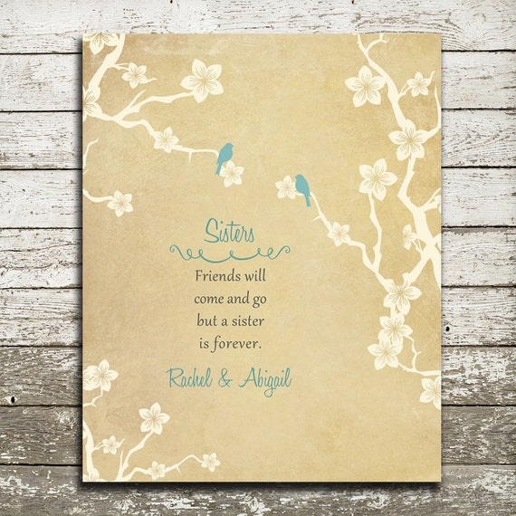 Thoughtful Wedding Gift For Sister : Wedding Gift for Sister Custom Print - Birthday Gift for Sister ...