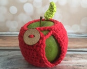 Apple Jacket - Hand Crocheted Red - Ready To Ship