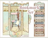 Family Rules Bookmark Set Shabby Cottage Chic INSTANT DOWNLOAD Digital Printable
