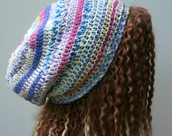 Sale Pastel Wool hat, slouchy beanie, slightly slouchy hat, slouch beanie, woman beanie,slouchy hat, woman beanie, crochet beanie hat teen