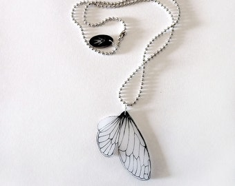 Single cicada wing necklace