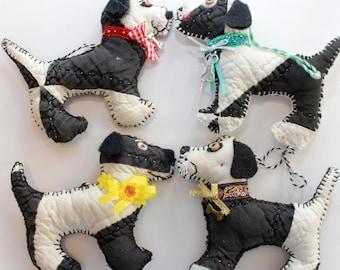 Fresh Balsam Dog - Quilty Critter Sachet ~ OOAK, Folk Art Doll, Novelty, Air Freshener