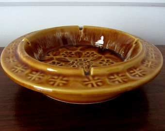 1970s Glazed Ceramic Ashtray