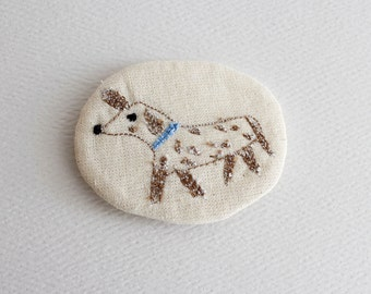 little animals pin - dog with spots