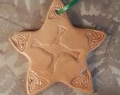 Brigid's Cross Ceramic Ornament