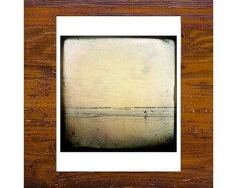 8x8 Print [JCP-121] - lone surfer on manly beach 8x8 print