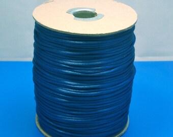 Flag Blue Rattail Satin Cord 2mm 3 yards Crafts Jewelry