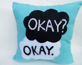 Zillow Pillow - Good Book Series - Fault in our Stars 12 in x 12 in Cozy Pillow