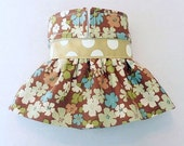 Female Dog Diaper Skirt  Perfect for your dog in Season and House Training Soft Flowers and Dots