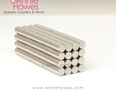 50 Pack Extremely Strong 1/4 In Neodymium Magnets - 1/4 x 1/16 Inch Super Strong Neodymium Magnets.