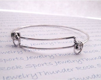 Flexible Wrist Charm Bangle Bracelet with Jump Rings for Attaching Pendants and Charms Adjustable Explandable Blanks