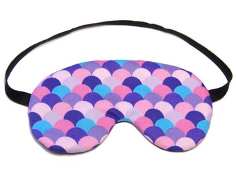 Purple and Blue Fish Scales Sleep Eye Mask Sleeping Mask