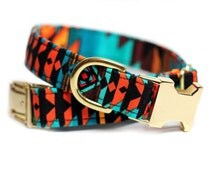 Aztec dog collar - Navajo Collar - Ring of Fire