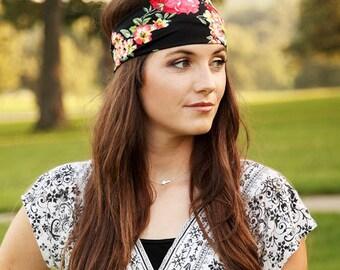 Yoga Headband, Stretchy Headband, Wide Headband, Funky Headband, Headbands for Women, Wide Hair Band, Wide Hairband, Material Headband Adult