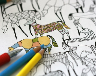 Colour In Collaboration No. 9 - Printable Colour In Pages