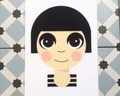 Beatnik Girl Print