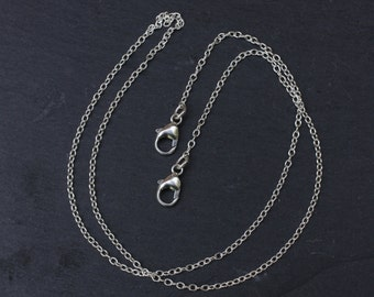 Sterling Silver Chain with Two Clasps