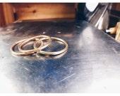 10 karat gold stacking ring band set