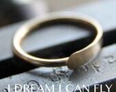 11mm 22g 18K Gold Hammered Nose Ring / Cartilage Hoop - 22 gauge solid 18K yellow, rose, or white gold